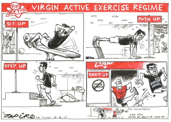 Zapiro: Virgin Active exercise regime