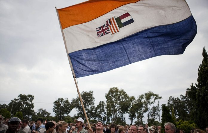 Symbol of hate: The Nelson Mandela Foundation argued in court that the old South African flag should be declared to be hate speech under the Equality Act.
