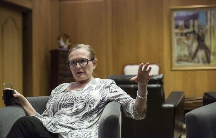 Outgoing Western Cape Premier Helen Zille.
