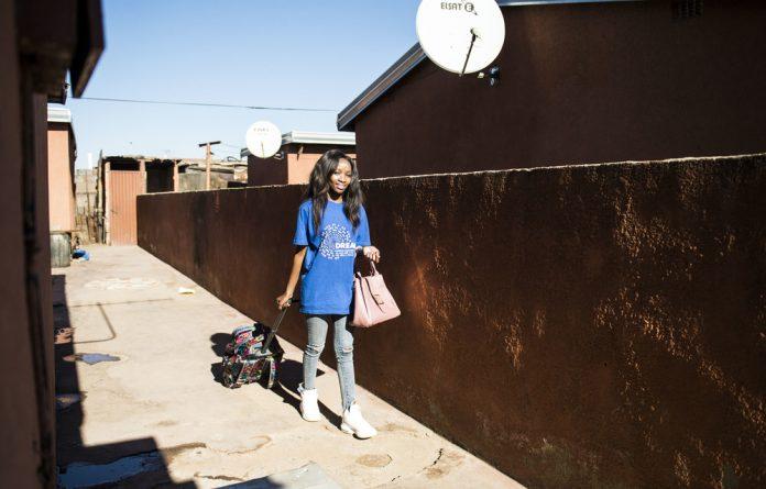 Second chance: Lebogang Kototlo fell pregnant as a teenager