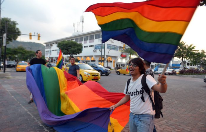 LGBT and human rights activists erupted in celebration in Quito and the port city of Guayaquil