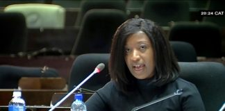 Suspended acting PIC CE Matshepo More testifying before the Mpati inquiry.