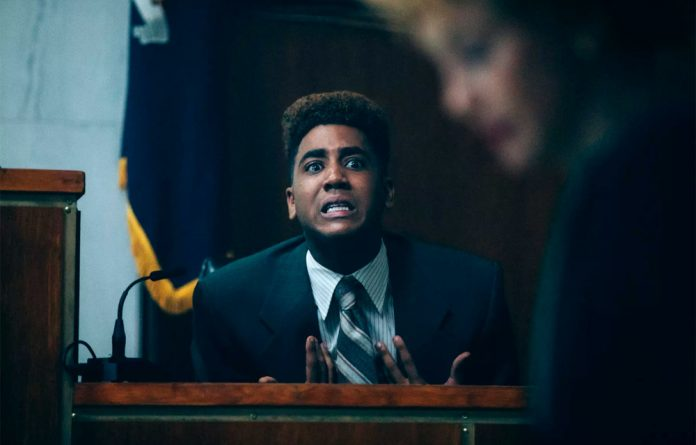 Truth: Jharrel Jerome as Korey Wise in a court scene from the series.