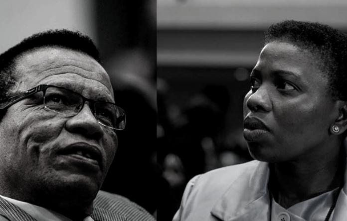 Axed NPA officials Lawrence Mrwebi and Nomgcobo Jiba.