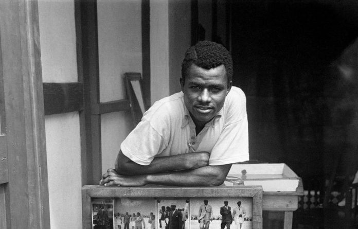Suave: Ghanaian photographer James Barnor in his youth. The 90-year-old's latest solo exhibition is currently on show in Paris.