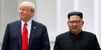 Donald Trump and Kim Jong Un during the first summit.