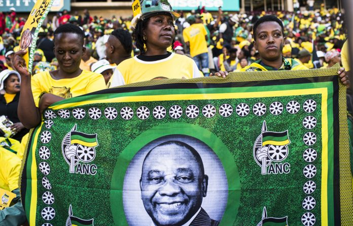 All talk: The ANC's final rally before the elections. The party's recent lekgotla resolved that growing the economy and tackling unemployment would help to solve the country's problems.