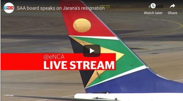 SAA's board speak on Jarana's resignation