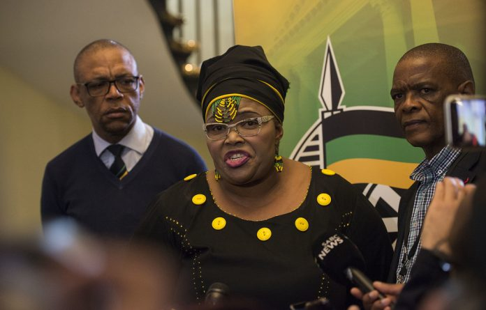 ANC chief whip Pemmy Majodina was expected to announce who the party would be nominating for chairperson positions at an ANC caucus meeting on Thursday.