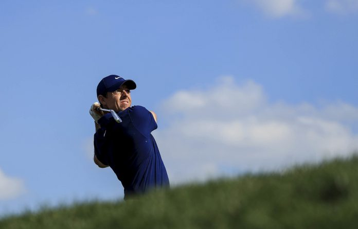 Homeboy: Rory McIlroy of Northern Ireland knows the Dunluce Links course like the back of his hand.