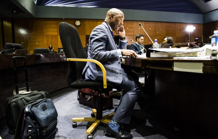 Former PIC chief executive Dan Matjila testifying at the PIC commission of inquiry. He is alleged to have authorised a contract finance loan that did not have the required paperwork.