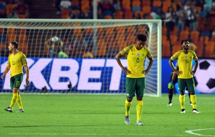 Heads down: Bafana Bafana bow out of Afcon 2019.