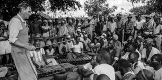 Family affair: Hugh Tracey recording a Chopi ensemble in Mbanguzi village