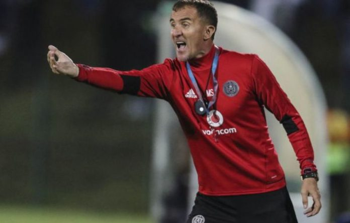 "Orlando Pirates coach Milutin ""Micho"" Sredojević."
