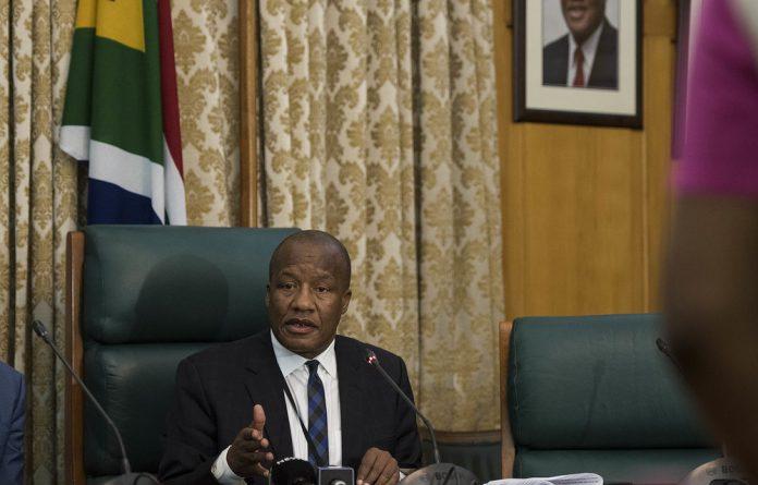 Minister Jackson Mthembu.