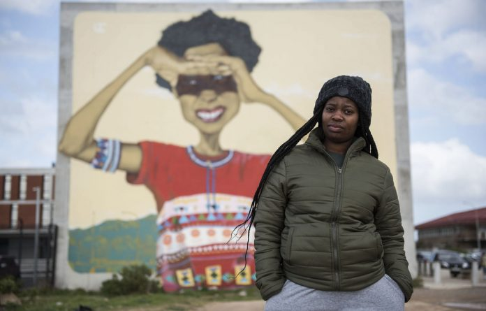 Sights on a better life: Anathi Mlonyeni wants to leave Philippi.