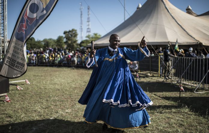After the party: A performer at a CR17 campaign rally in Limpopo. The public protector has found that President Cyril Ramaphosa deliberately misled Parliament when answering a question about Bosasa's donation to his campaign.