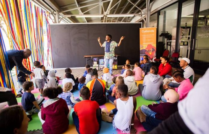 The South African Book Fair has activities for children to encourage them to read.