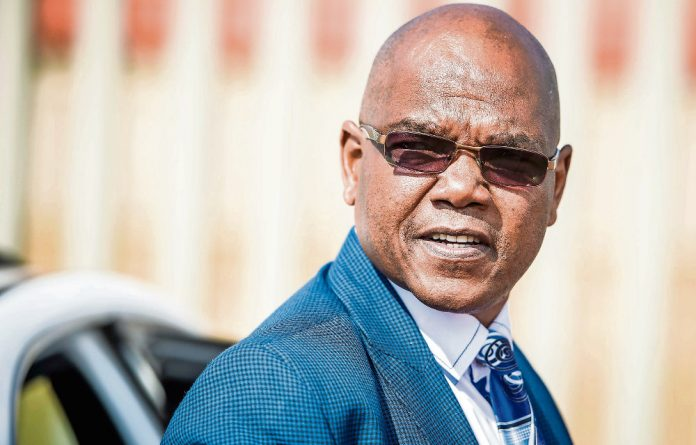 Dodgy past: Former crime intelligence head Richard Mdluli.