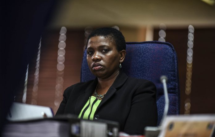About-turn: Nomgcobo Jiba initially showed confidence in the Mokgoro inquiry but has now accused it of 'unbridled bias'.