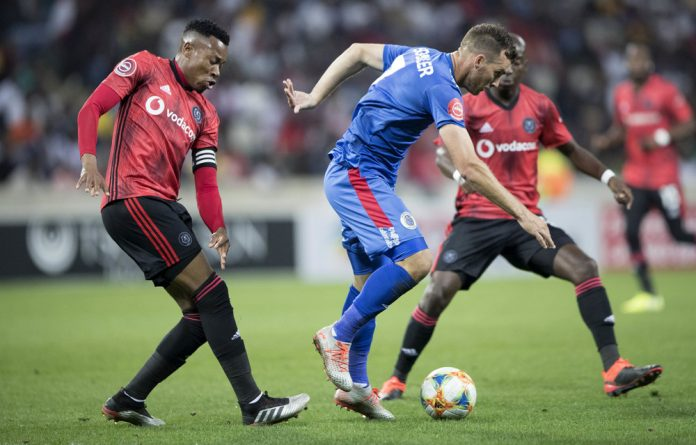 Hard-fought contests: Bradley Grobler of Supersport United