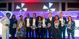 The winners at the Accenture Rising Star Awards