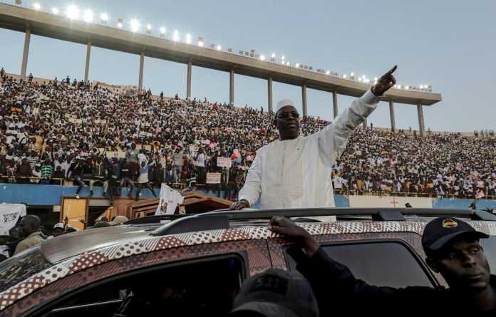 Secret weapon: Macky Sall easily won the 2019 presidential election.