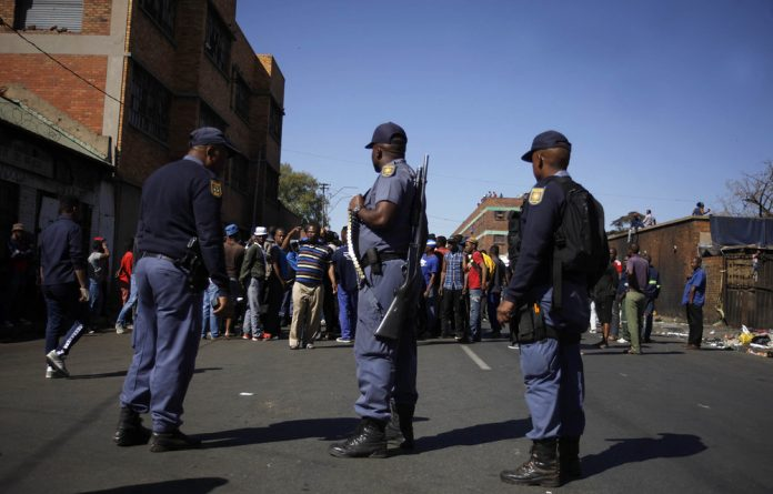 Police also said they were investigating a death in Hillbrow