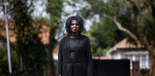 Bond: Pinky Mashiane comes from a family of domestic workers and was one herself