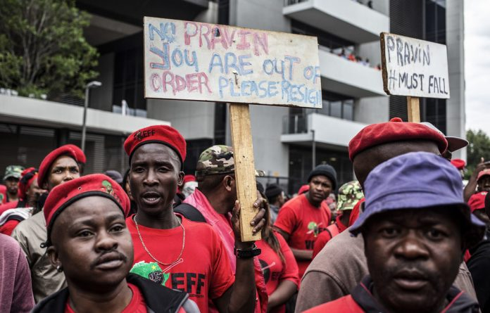 Determined: The equality court has ruled that a secret 2014 report can be admitted as evidence in a hate speech case brought by Minister Pravin Gordhan against EFF leader Julius Malema.