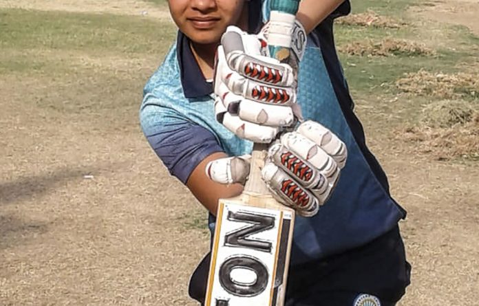 Blocking detractors: Indian cricketer Shafali Verma posing at her local cricket ground in Rohtak in 2017.