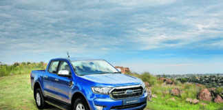 Imposing beast: The Ford Ranger XLT is too large to make it through the reviewer's garage door. But it comes into its own on the open road