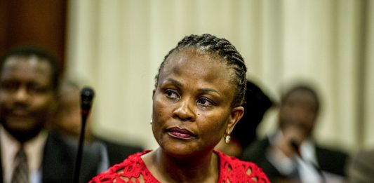 Her side of the story: Public protector Busisiwe Mkhwebane has labelled Basani Baloyi's allegations 'mischievous'.