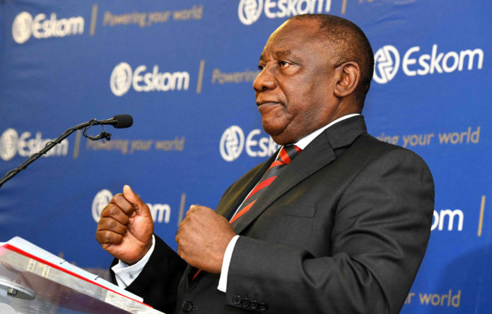 Defuse: President Cyril Ramaphosa said he'd procure an extra 5000 megawatts of generation capacity