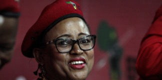 No-nonsense fighter: Mandisa Mashego is one of those tipped to replace Godrich Gardee as the EFF's secretary general.