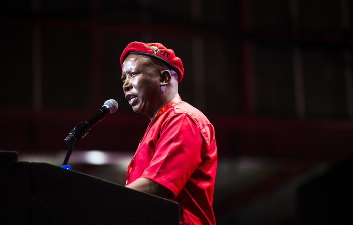 """Malema said the EFF leadership had given clear instructions to both the security and members of SAPS """"to behave in a manner that would show respect to delegates"""