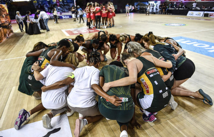 Team talk: The South African netball squad hope to be consistently good when they travel to England.