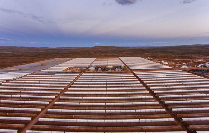 Let the sunshine in: The Kathu solar plant in the Northern Cape has a capacity of 100 megawatts and can store up to 4.5 hours of energy.