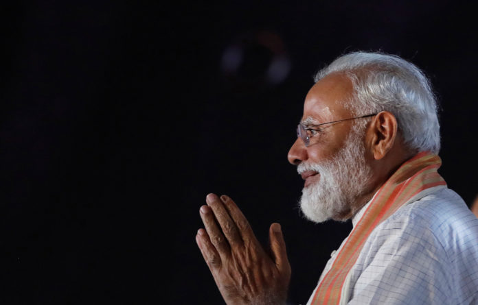 India's Prime Minister Narendra Modi of the right-wing Bharatiya Janata Party