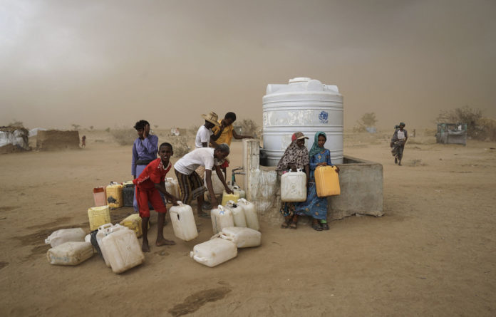 Humanitarian crisis: Water is heavily rationed to Yemenis who have been displaced by the war in the country. It is only available during one-hour windows.
