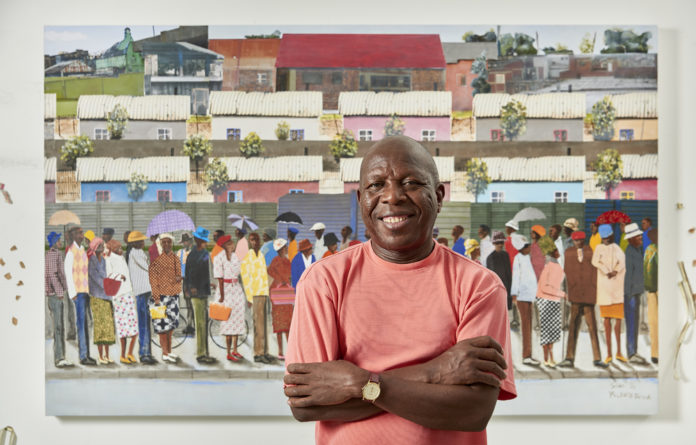 Images from Sam Nhlengethwa's show 'Joburg Select' remind us of spaces that repel us