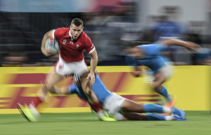 Speed of light: Welsh scrum-half Gareth Davies in action. The Red dragons have beaten the Boks in five of their six last matches.