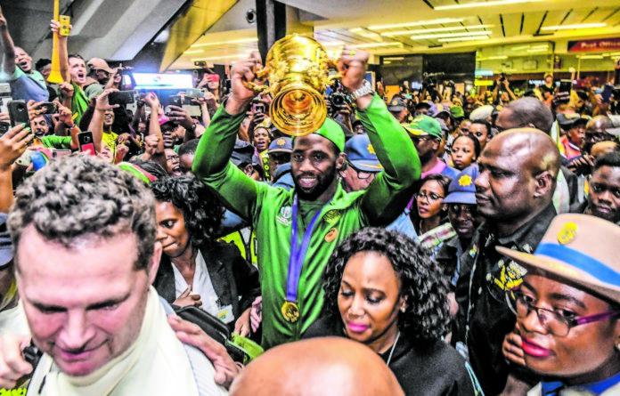 Golden moment: Springbok captain Siya Kolisi