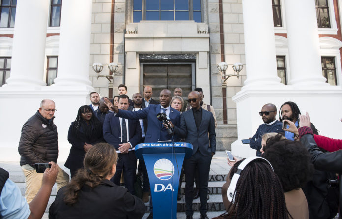 the DA's transition also involves a change in its internal balance of power.