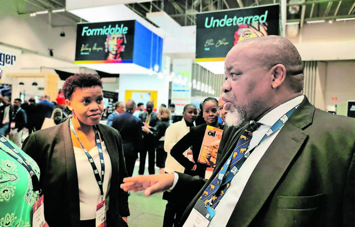Gwede Mantashe Minister for Mineral Resources and Energy at Africa Oil Week 2019