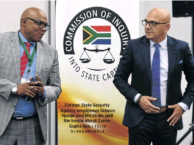 Gibson Njenje and Moe Shaik at the Zondo commission