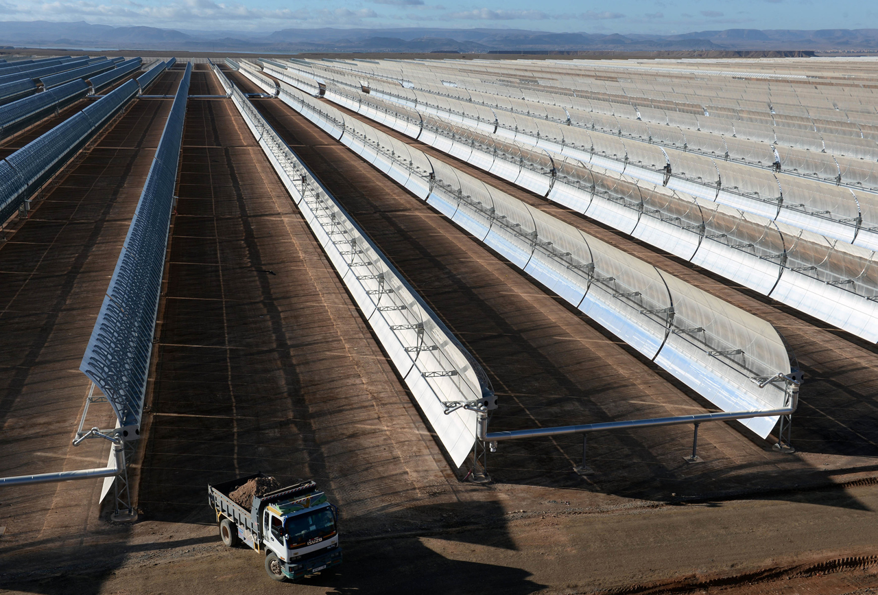 The Noor solar power plant near the Moroccan town of Ouarzazate that was developed with the Spanish consortium, TSK, Acciona and Sener