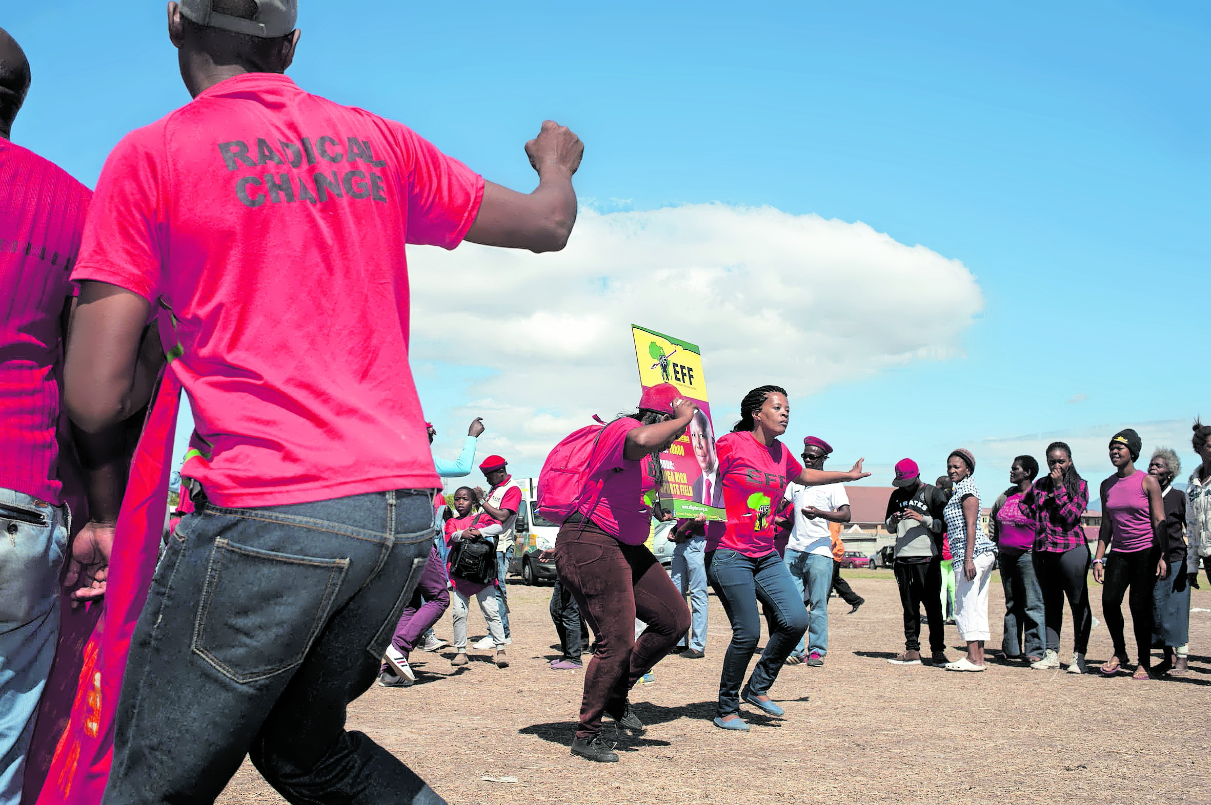 The EFF held a rally on Human Rights Day at the Langa High Schoo