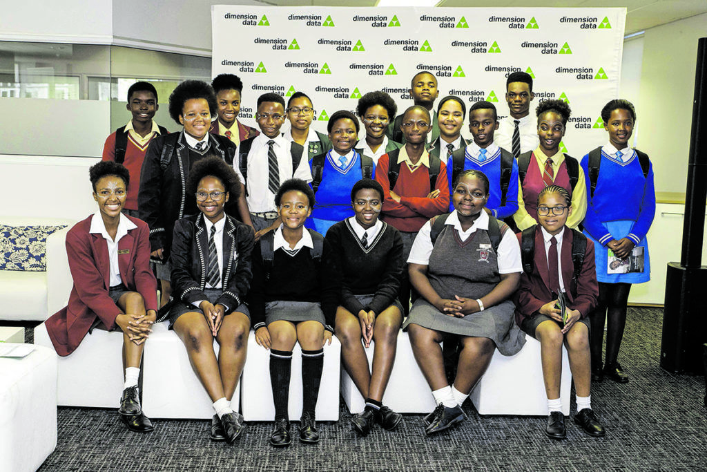 Many Dimension Data Saturday School learners progress to obtaining meaningful employment in the corporate sector. (Jeff Latham Photography)
