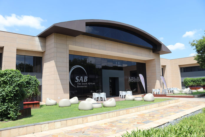 The South African Breweries offices in Johannesburg